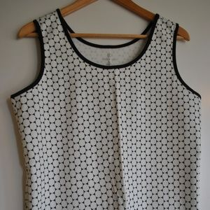 Land's End Black and white tank top